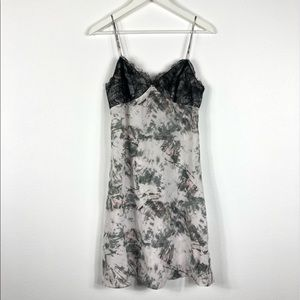 ALL SAINTS Ives Tyde Lace Trim Silk Cami Dress Med